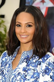 Alesha Dixon sported a minimally styled center-parted bob on 'Britain's Got Talent.'
