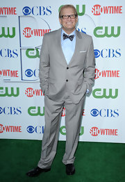 Drew Carey showed off his grey suit while attending the CBS press tour. He completed his look with a cool bow tie.