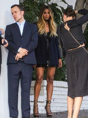 Ciara was spotted at the CFDA/Vogue Fashion Fund show rocking a fierce pair of Aquazzura lace-up heels.