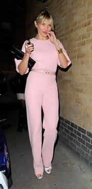 Cameron Diaz defined fabulous in her true pink jumpsuit at an Obama fundraiser.