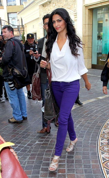 Camila Alves Cowl Neck Top []