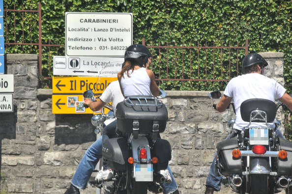 More Pics of Elisabetta Canalis Motorcycle Helmet (1 of 5) - Elisabetta Canalis Lookbook - StyleBistro
