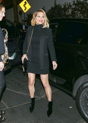 Candace Cameron Bure added a tough-chic touch with a pair of black platform boots.