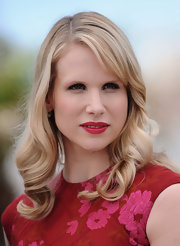 Lucy Punch went for retro elegance with this curly 'do at the 'Tall Dark Stranger' photocall.