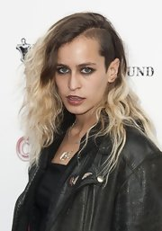 Alice Dellal's trademark dramatic ombre 'do was on display at the opening night of Cantina in London.