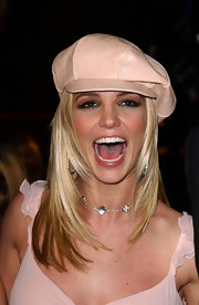 Britney Spears wore her signature leather newsboy cap while out in Hollywood.