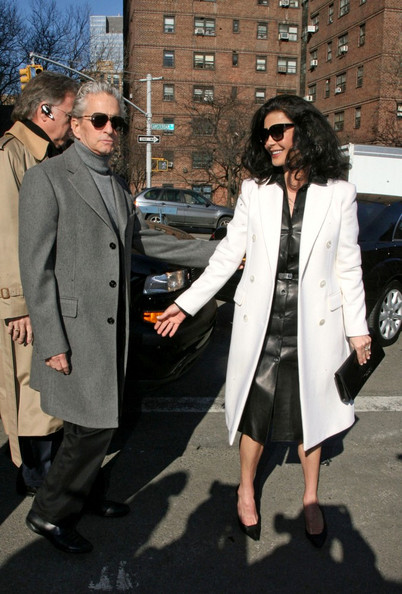 Catherine Zeta-Jones Wool Coat