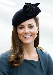 Kate Middleton wore this darling felt hat with her teal ensemble for her visit to Leicester.