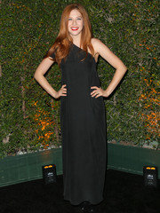Rachelle Lefevre attended the opening of Cirque Du Soleil's 'Kurios' looking elegant in a black one-shoulder gown.