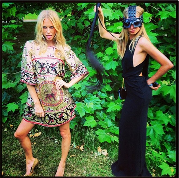 Poppy Delevingne and Cara Play Dress Up