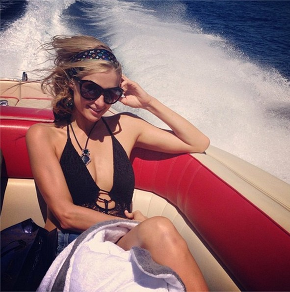 Paris Hilton Hops on a Boat
