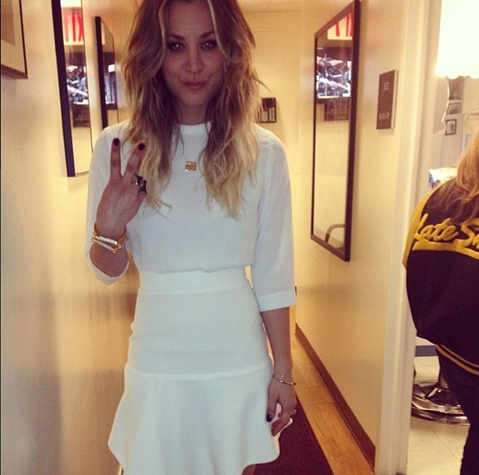 Kaley Cuoco Rocks Winter White The Week S Most Stylish