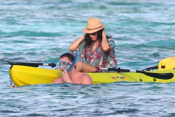 Channing Tatum and Jenna Dewan in St. Bart's