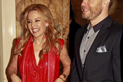 Kylie Minogue Sizzles in Pucci's Red Over-the-Knee Boots