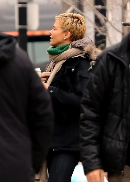 Charlize Theron Arrives on Set