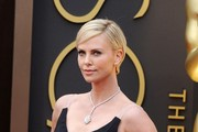 Charlize Theron Diamond Lariat Necklace