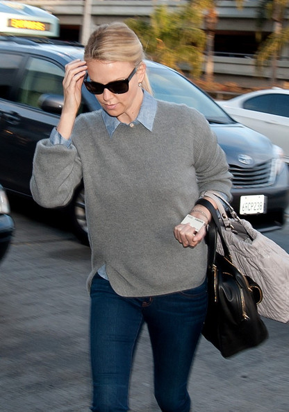 Charlize Theron Crewneck Sweater