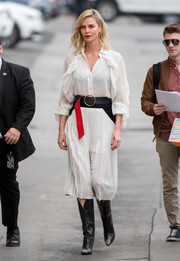 Charlize Theron added some Western appeal with a pair of black Givenchy cowboy boots.