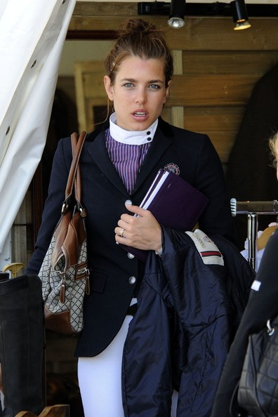 More Pics of Charlotte Casiraghi Leather Sneakers (1 of 8) - Athletic Shoes Lookbook - StyleBistro