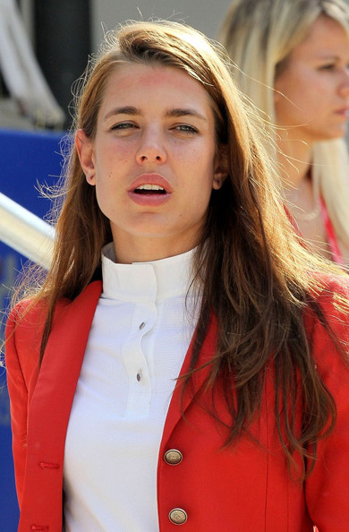More Pics of Charlotte Casiraghi Long Side Part (1 of 25) - Long Hairstyles Lookbook - StyleBistro