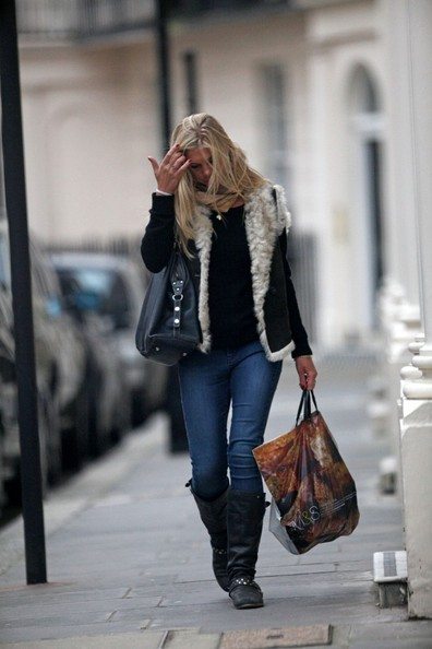 More Pics of Chelsy Davy Motorcycle Boots (1 of 13) - Chelsy Davy Lookbook - StyleBistro