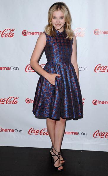 Chloe Grace Moretz Print Dress