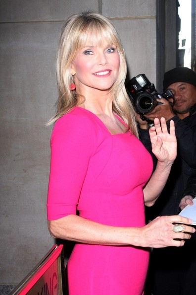 More Pics of Christie Brinkley Long Straight Cut with Bangs (1 of 26) - Christie Brinkley Lookbook - StyleBistro