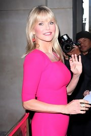 Christie Brinkley wore her hair in long layers with brow-grazing bangs for an appearance on the 'Today' show.