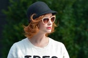 Christina Hendricks looks stylish while waiting for a taxi in downtown Manhattan.