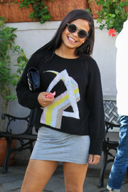 Christina Milian went out on a lunch date rocking a pair of round shades.