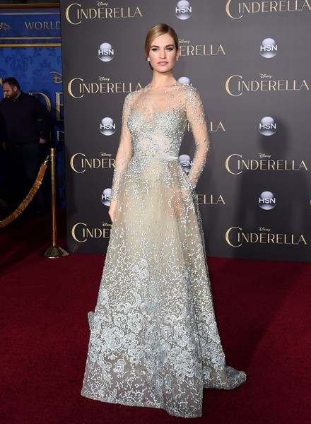 Lily James (in Elie Saab Couture) as Cinderella