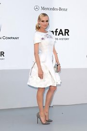 Diane Kruger attended the amfAR Gala in a pair of point-toe Swarovski crytal-encrusted stilettos.
