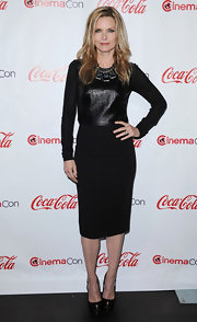 Michelle Pfeiffer went all black at the CinemaCon Awards in this leather clad number.