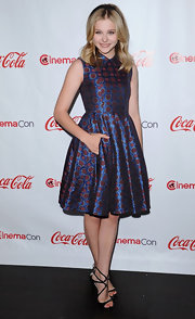Chloe Moretz's iridescent print dress was perfectly youthful at the CinemaCon 2012 Awards.