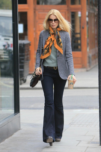 More Pics of Claudia Schiffer Patterned Scarf (4 of 6) - Claudia Schiffer Lookbook - StyleBistro