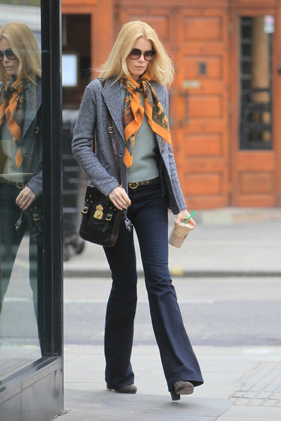 More Pics of Claudia Schiffer Patterned Scarf (5 of 6) - Claudia Schiffer Lookbook - StyleBistro