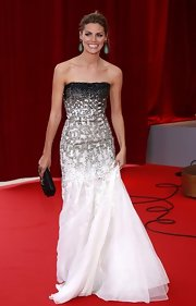 Amaia Salamanca looked absolutely stunning in a two-toned embellished gown at the Monte Carlo Television Festival closing ceremony.