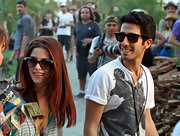 Ashley Greene wore a pair of wayfarer sunglasses... very retro, but with modern flair.