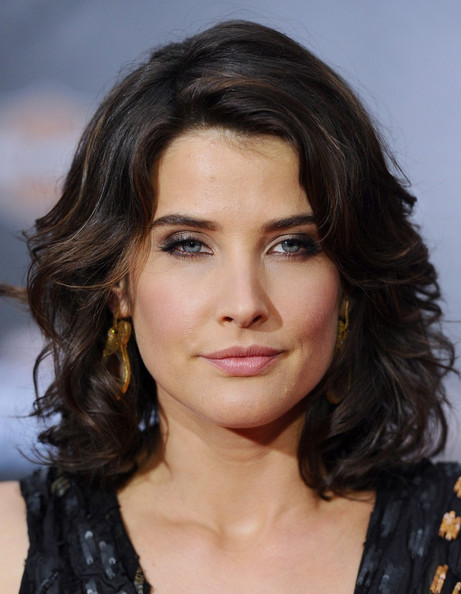 Cobie Smulders Gold Dangle Earrings
