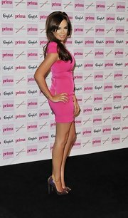 It seemed Maria Fowler took style notes from Barbie, wearing a hot-pink mini dress and glittery peep-toes to the Comfort Prima High Street Fashion Awards.