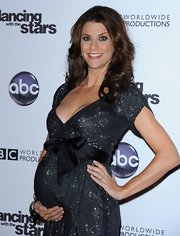 Samantha Harris showed off her long curls while hitting the 'Dancing with the Stars' 200th Episode.