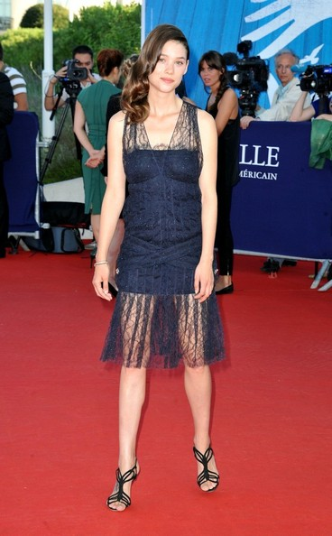 Astrid Berges-Frisbey rocked an edgy semi-sheer black cocktail dress at the Closing of the Deauville Film Festival.