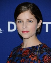 Anna Kendrick pulled her hair up into a neat side-parted 'do for the Grammy weekend private reception.