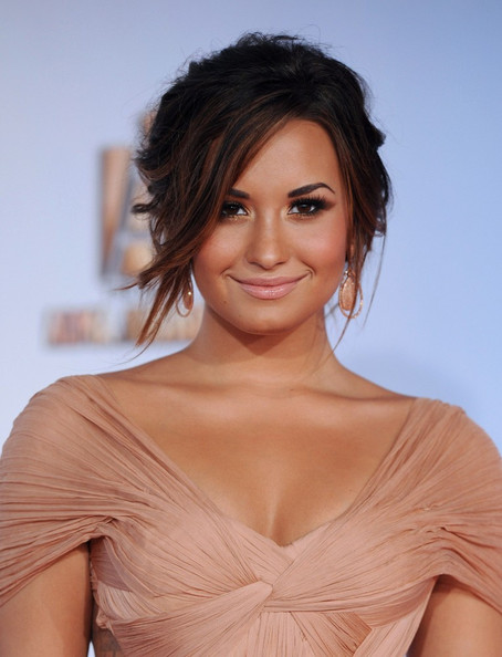 Demi Lovato Dangling Gemstone Earrings
