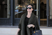 Demi Lovato Leather Tote