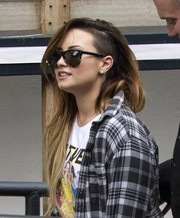 Demi Lovato was spotted outside the ITV Studios wearing a pair of Oliver Peoples Daddy B sunglasses.