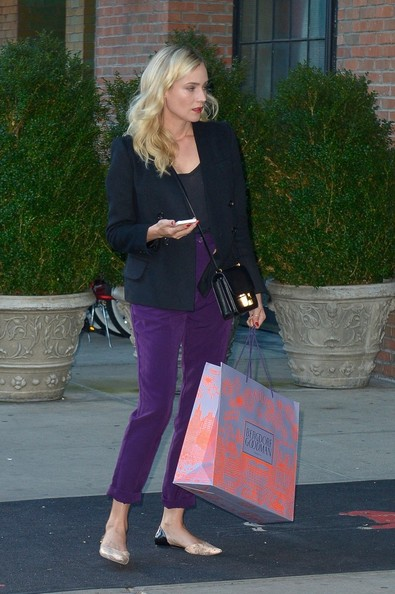 More Pics of Diane Kruger High-Waisted Pants (1 of 5) - Diane Kruger Lookbook - StyleBistro