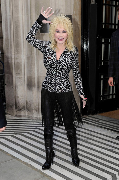Dolly Parton Knee High Boots