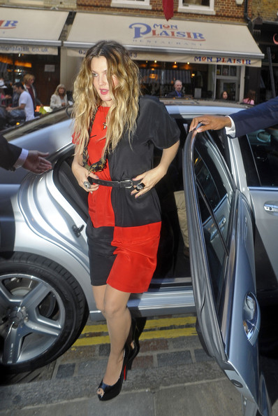 More Pics of Drew Barrymore Peep Toe Pumps (1 of 6) - Drew Barrymore Lookbook - StyleBistro