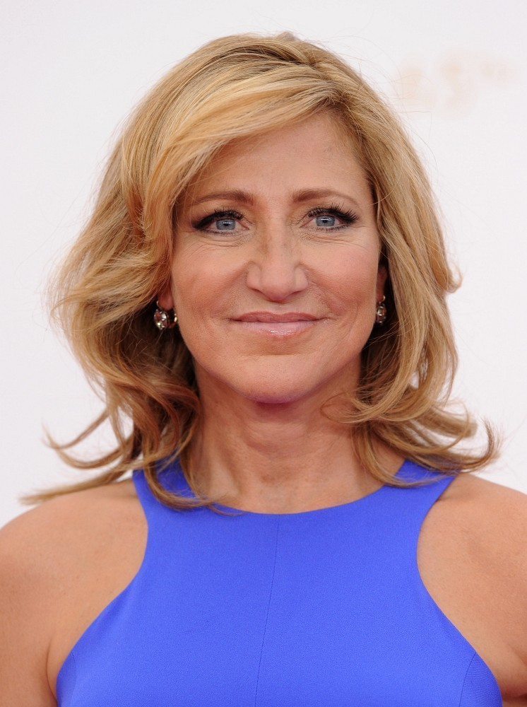 Edie Falco Medium Curls Shoulder Length Hairstyles